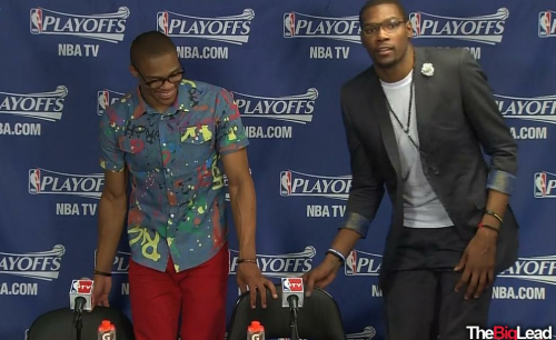 The Wolves' hipsters take on Thunder's hipsters tonight in OKC