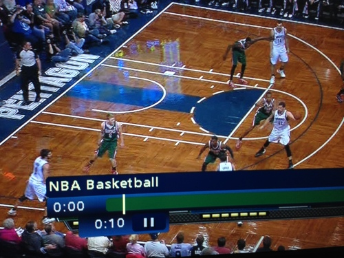Here's a snapshot of what the Wolves' offensive sets have often looked like