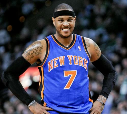 Carmelo Anthony is licking his chops at the Wolves' defense