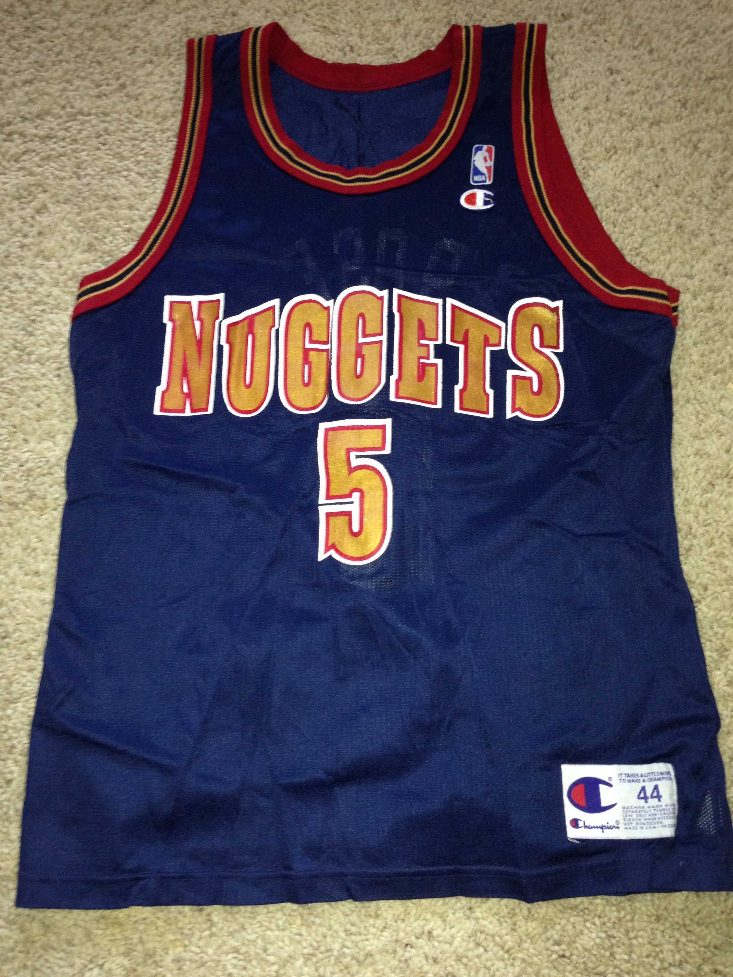 the best attitude 4e1aa 924aa old nuggets jersey