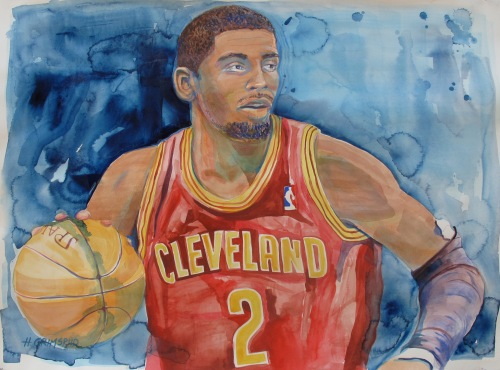 Could Kyrie Irving be a Timberwolves trade target? (Artwork courtesy of Holly Grimsrud: http://www.hollygrimsrudart.com/hollygrimsrudart.com/Welcome.html