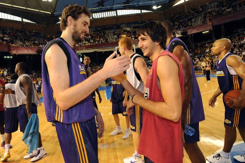 Los Angeles Lakers Practice, NBA Europe Live