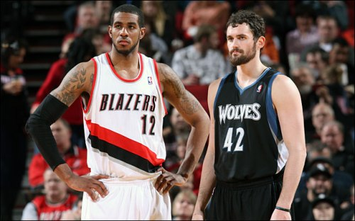 Two of the NBA's best power forwards, LaMarcus Aldridge and Kevin Love, square off tonight at Target Center (Photo credit: NBA.com)