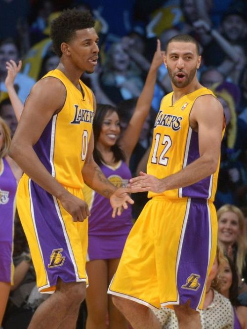 "Nick ""Swaggy P"" Young and Kendall Marshall will be in Minneapolis tonight to take on the Wolves."