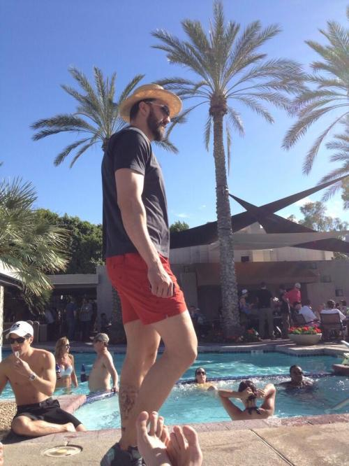 Nikola Pekovic has likely traded in his Phoenix poolside garb for a Denver ski jacket.