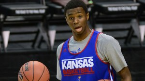 NCAA Basketball: NCAA Tournament-Kansas Practice