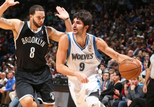 Ricky Rubio played well in the Wolves victory over the Nets on Wednesday.
