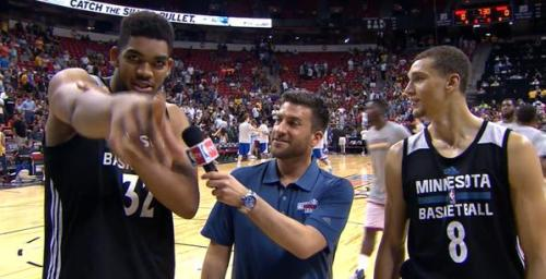 Towns and LaVine, postgame antics